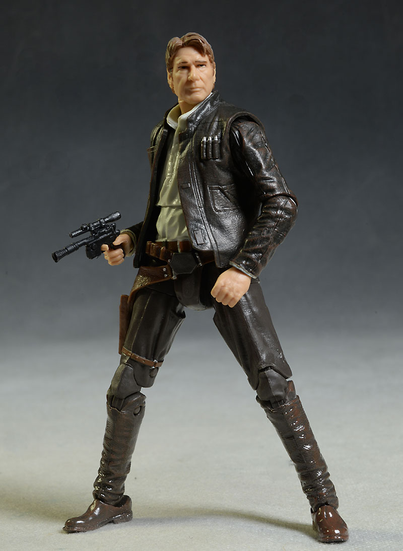 Star Wars Black Old Han Solo action figure by Hasbro