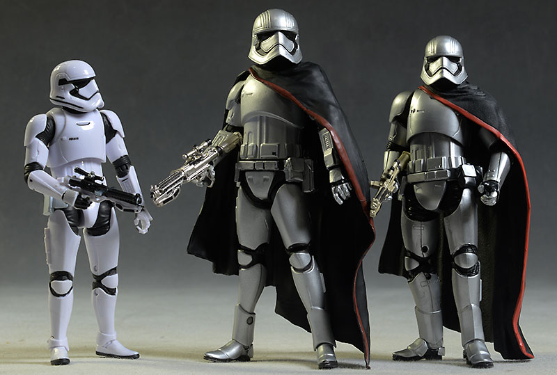 Star Wars Captain Phasma action figure comparison