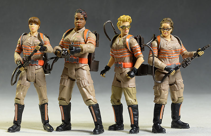 Ghostbusters Erin, Patty, Abbey, Jillian action figures by Mattel