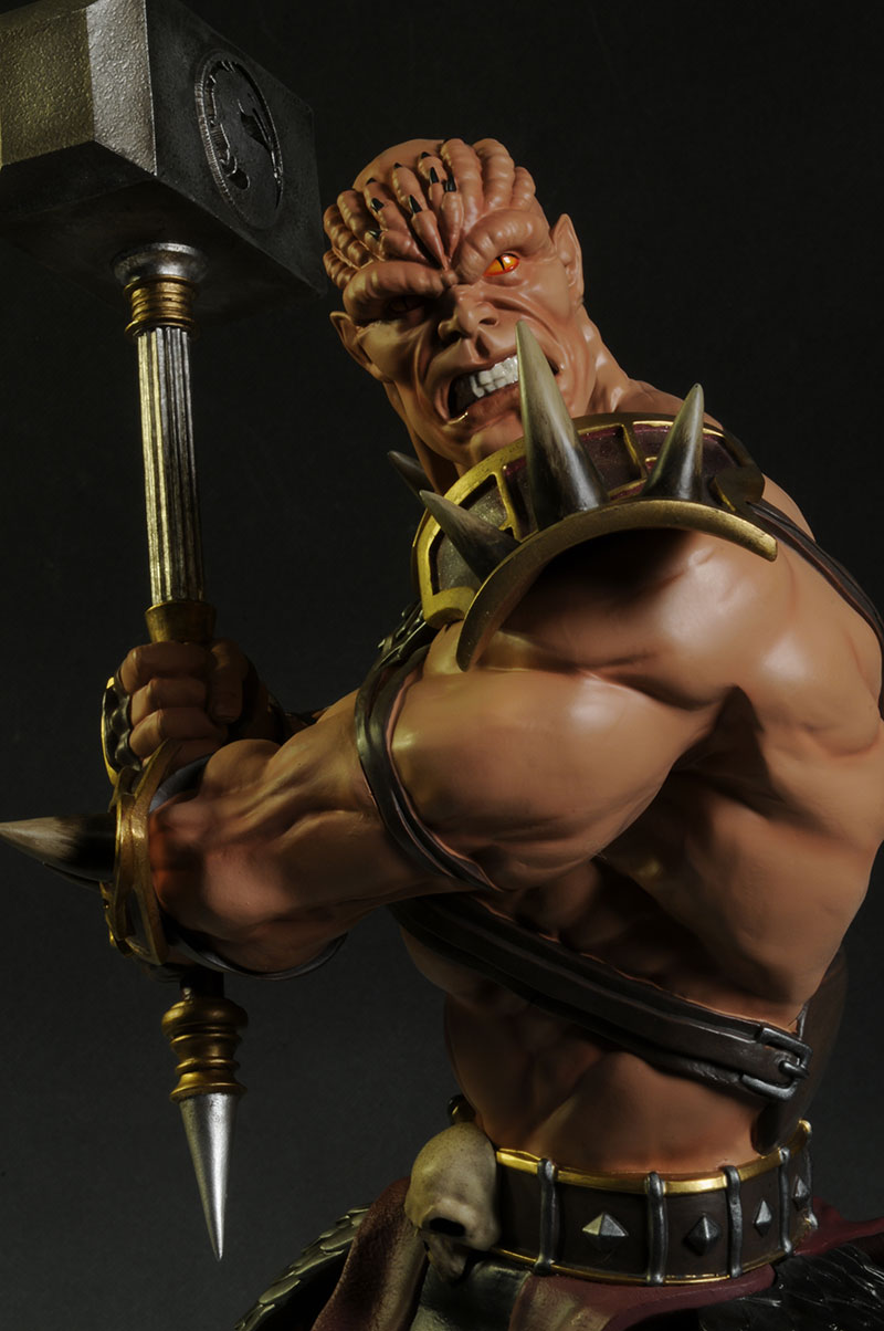Mortal Kombat Shao K  ahn statue by Pop Culture Shock