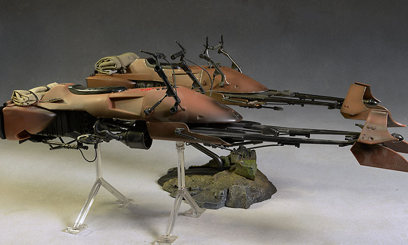 Review And Photos Of Star Wars Speeder Bike 1 6th Vehicle By Sideshow