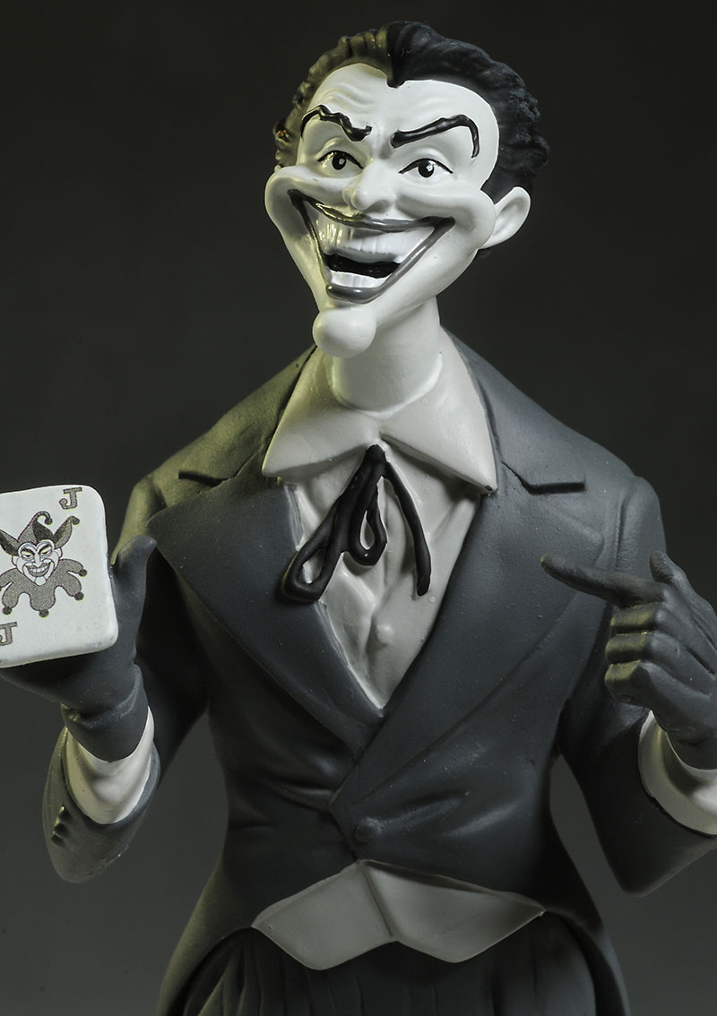 Batman Black and White Dick Sprang Joker statue