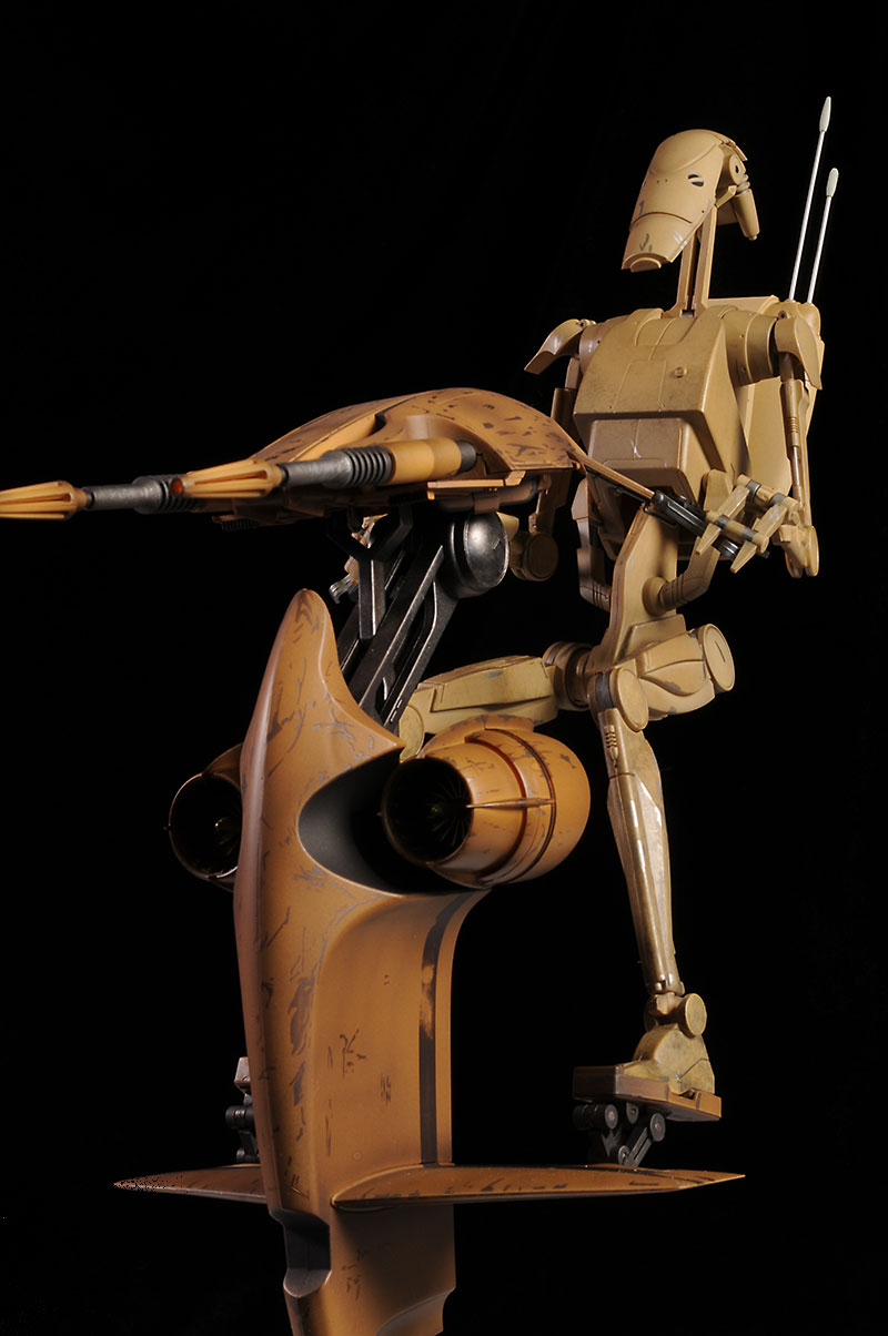 Battle Droid and S.T.A.P. sixth scale Star Wars action figure by Sideshow Collectibles
