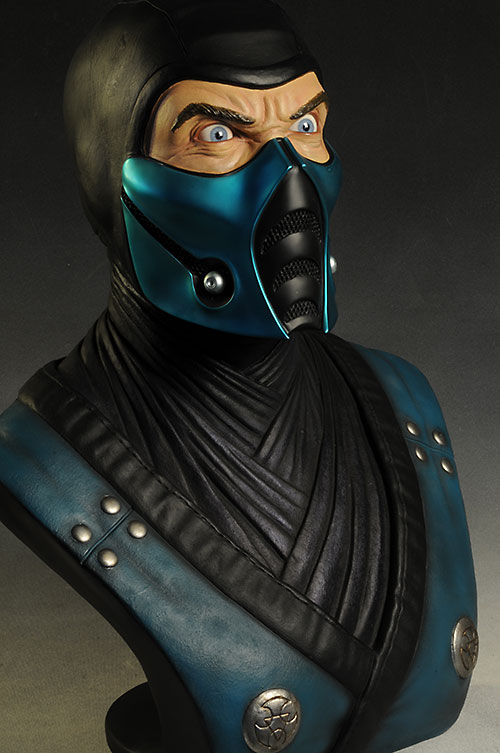 Mortal Kombat Sub-zero life size bust by Pop Culture Shock