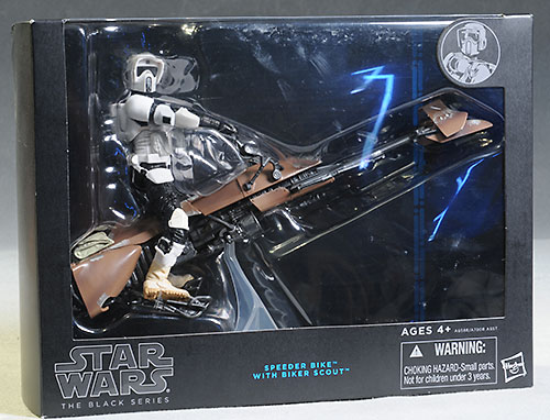 Biker Scout/Speeder Bike action figure Star Wars Black by Hasbro