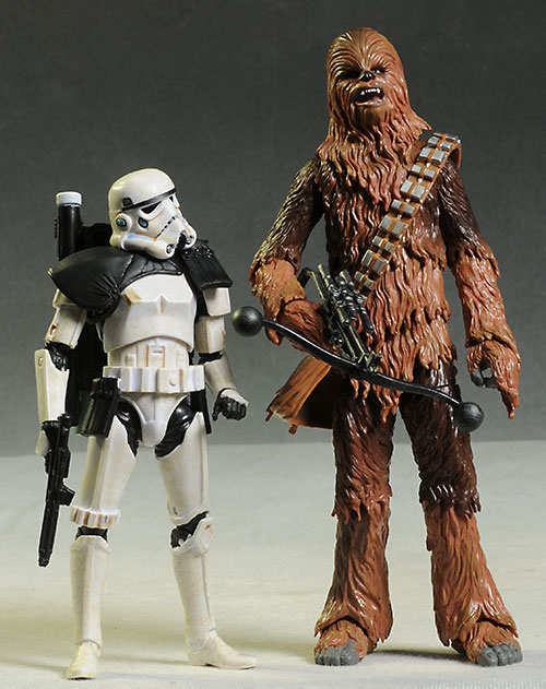 Star Wars Black Chewbacca & Sandtrooper action figures by Hasbro