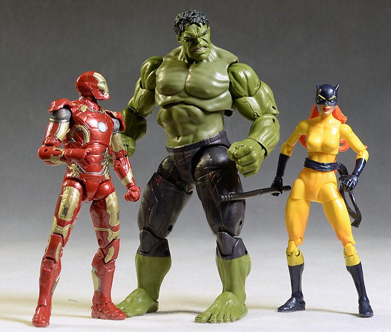 Marvel Legends Avengers Hulk, Hellcat, Iron Man MK43 action figures by Hasbro