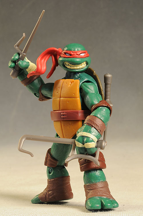 Review And Photos Of Tmnt Raphael Leatherhead Action Figures By