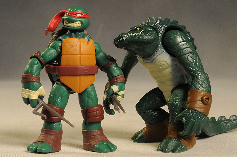 Leatherhead and Raphael TMNT action figure by Playmates Toys