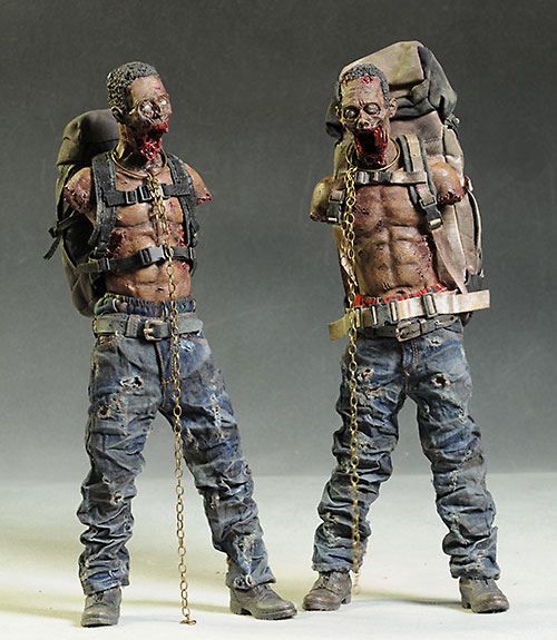Walking Dead Michonne's Pet Walkers action figures by ThreeZero