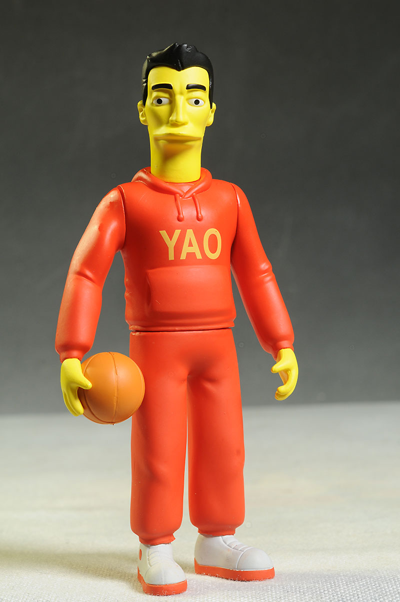 Celebrity Simpsons Tom Hanks, Yao Ming figure by NECA