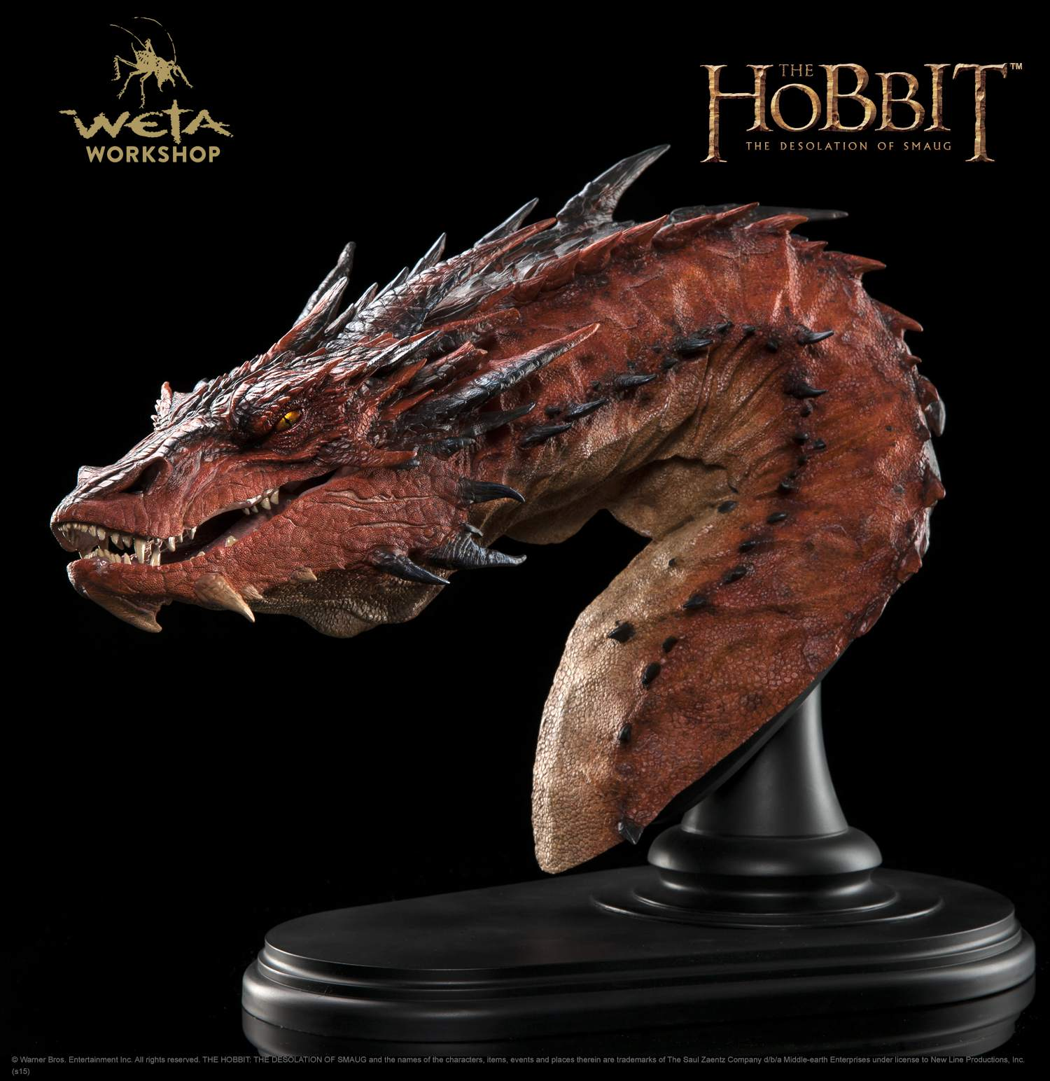 Hobbit Smaug bust by Weta