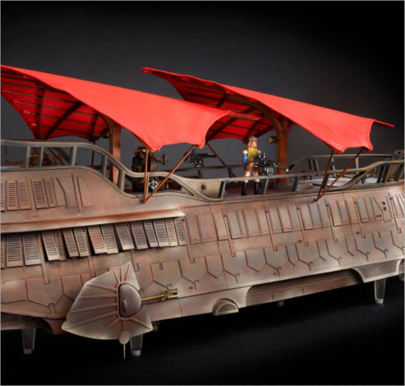 Star Wars Jabba's Sail Barge action figures