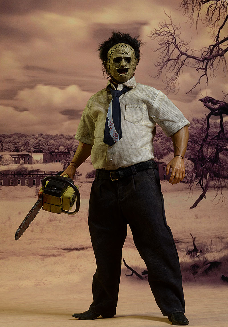 Leatherface sixth scale figure review Review_3ztexas_10