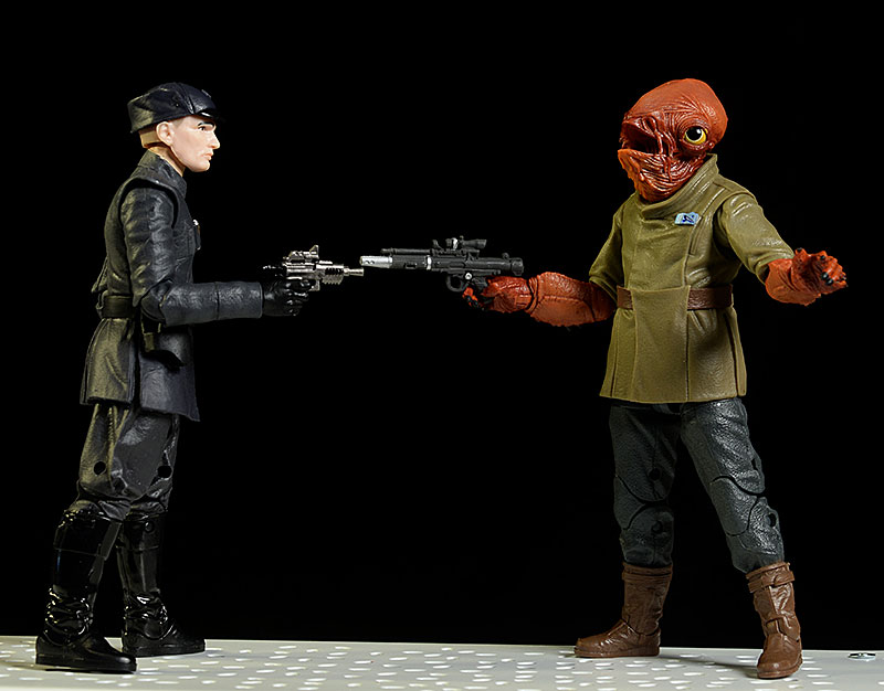 Admiral Ackbar, First Order Officer Star Wars Black action figure by Hasbro