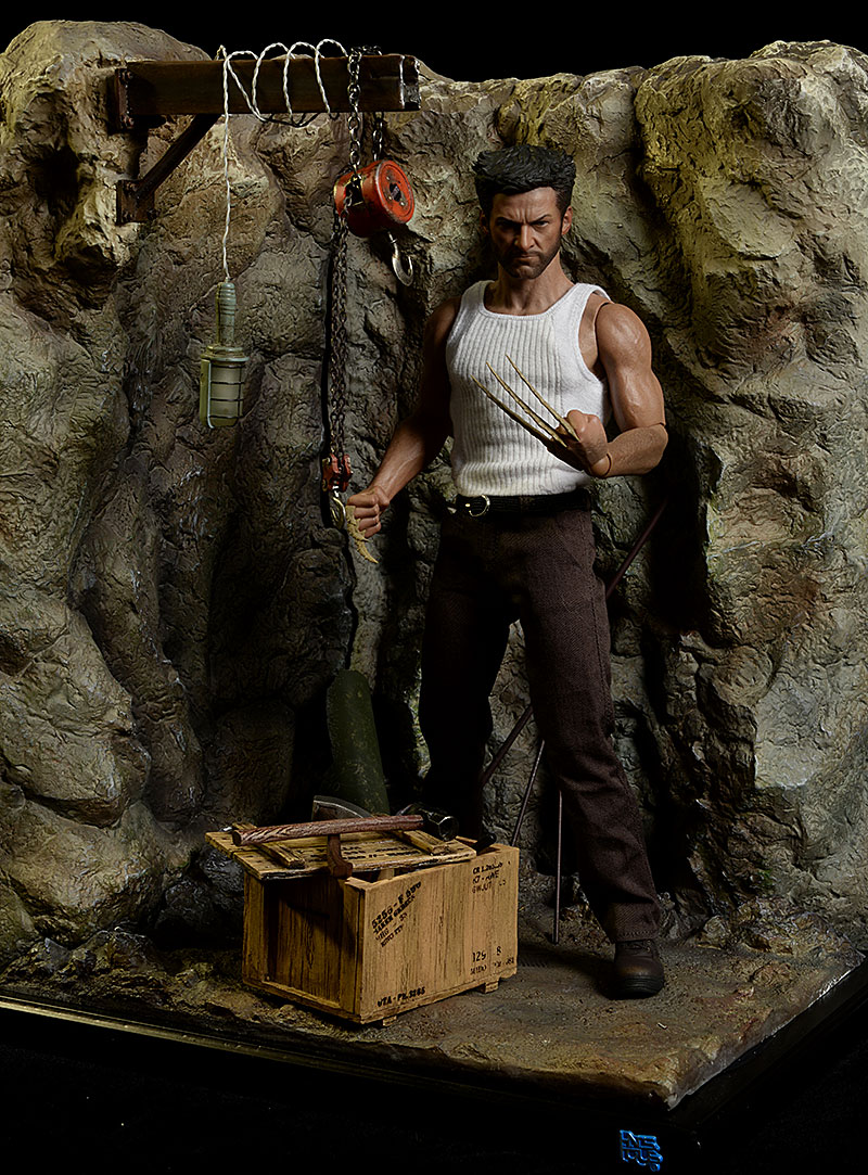 Cave sixth scale diorama environment by IHNS Toys