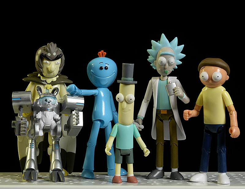Rick, Morty, Poopybutthole, Birdperson, Meeseeks, Snowball action figure by Funko