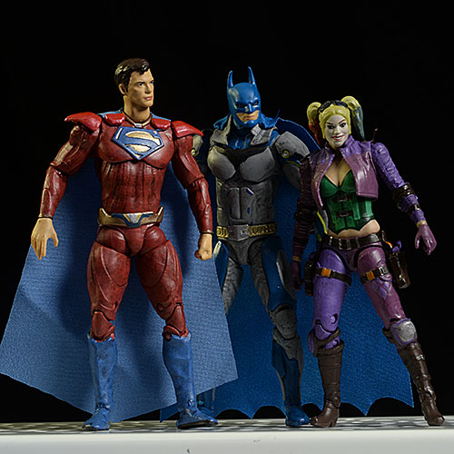 Injustice 2 Superman, Batman, Harley ThinkGeek exclusive action figure by Hiya