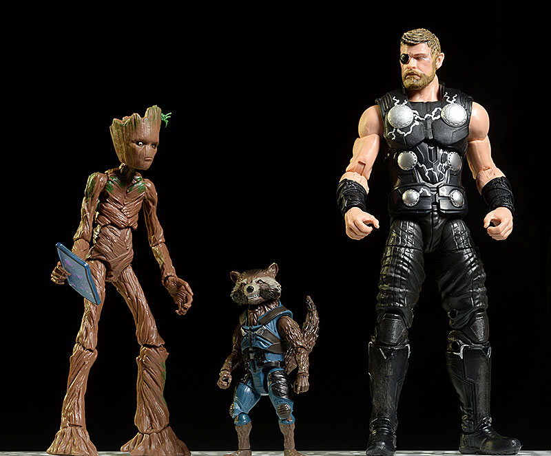 Thor, Rocket, Groot Infinity War Marvel Legends action figure by Hasbro