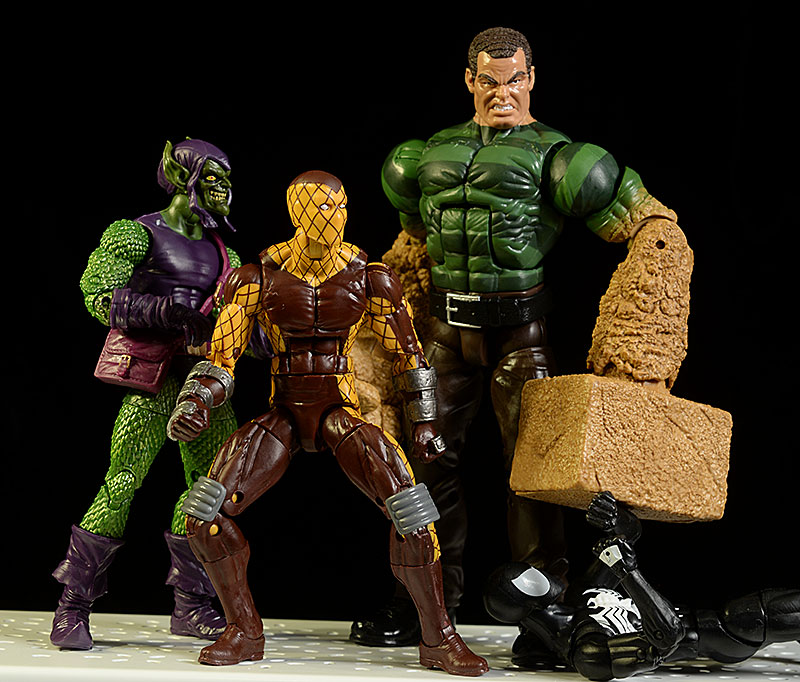 Sandman, Green Goblin, Spider-Man, Shocker Marvel Legends action figures by Hasbro