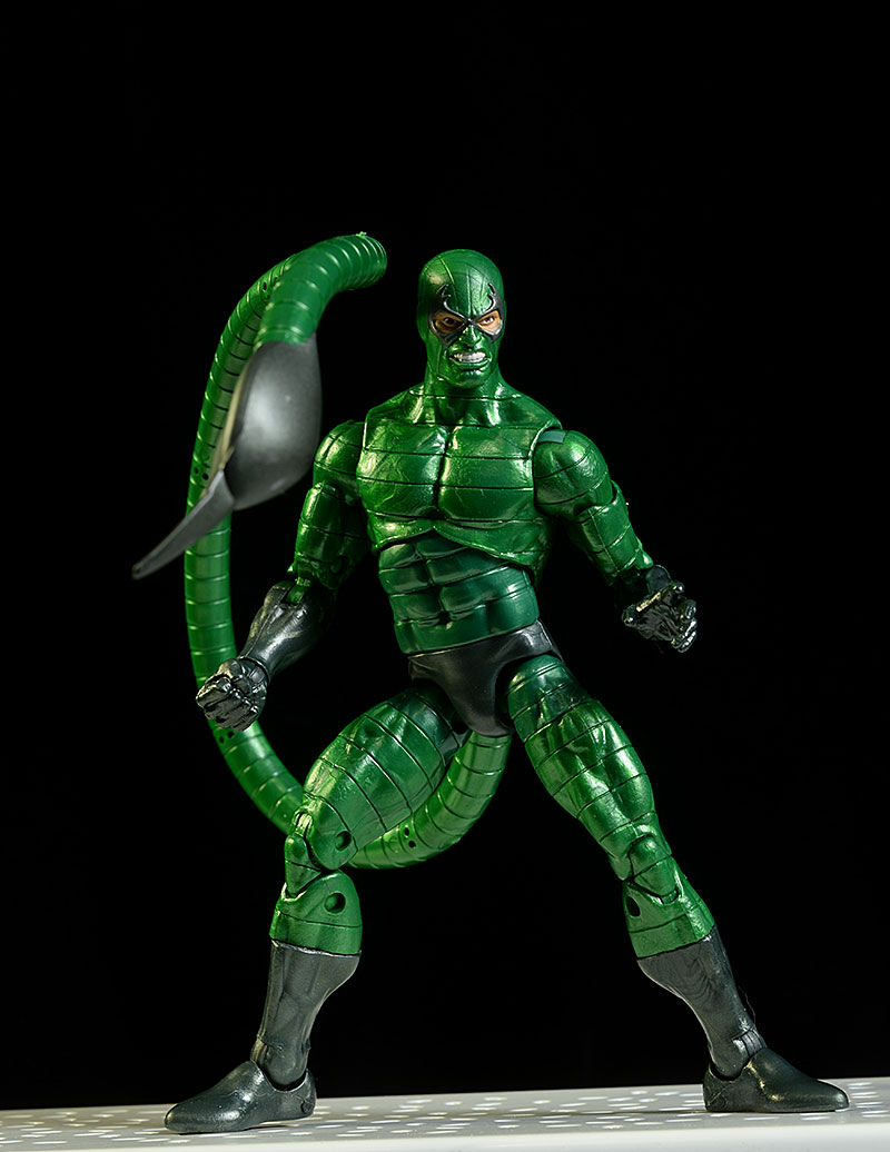 Spider-Man Stealth Suit, Scorpion, Molten Man Marvel Legends action figures by Hasbro