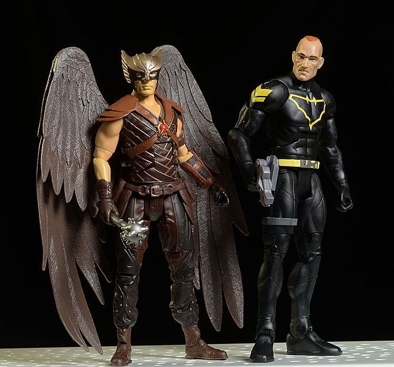 Jim Gordon Batman, LoT Hawkman Multiverse action figures by Mattel