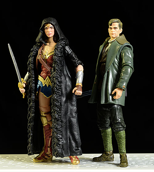 Multiverse Wonder Woman, Steve Trevor action figures by Mattel