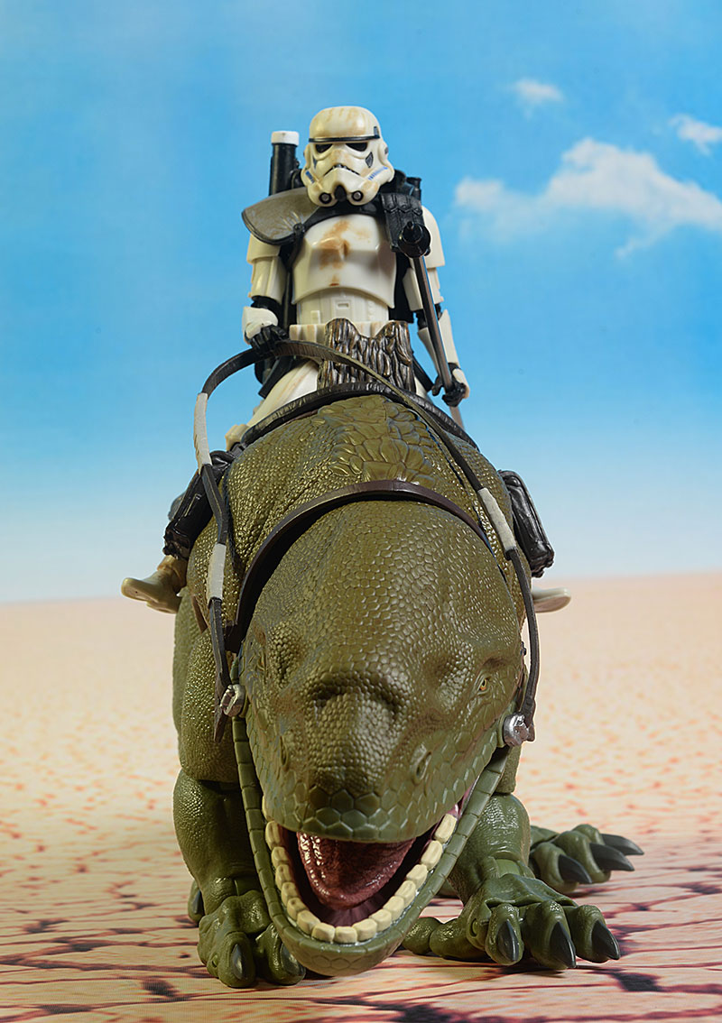 Star Wars Black Dewback and Trooper
