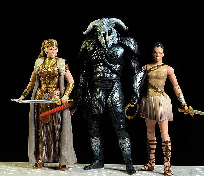 Wonder Woman Diana, Hippolyta, Ares Multiverse action figures by Mattel