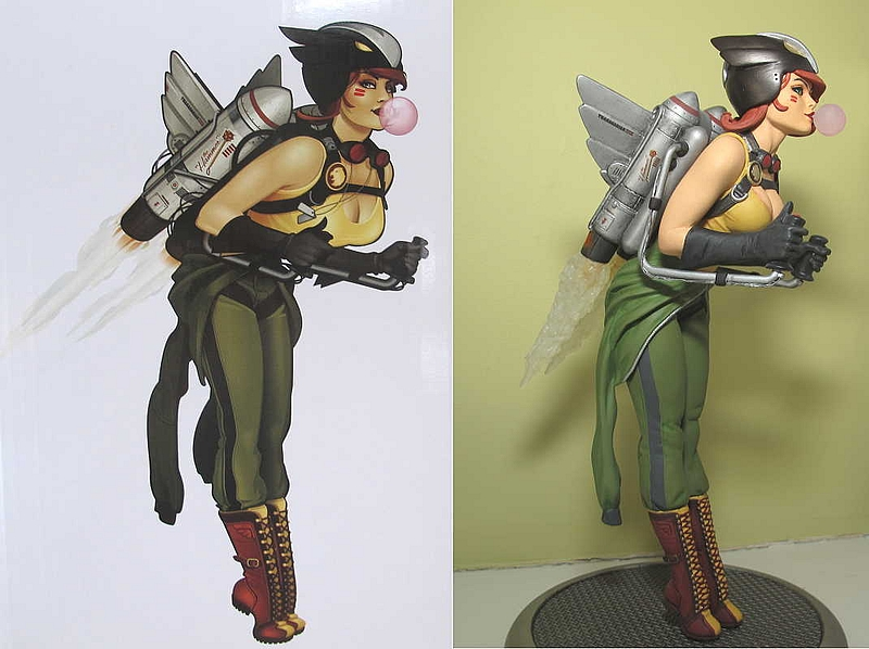 Hawkgirl DC Bombshells statue by DC Collectibles