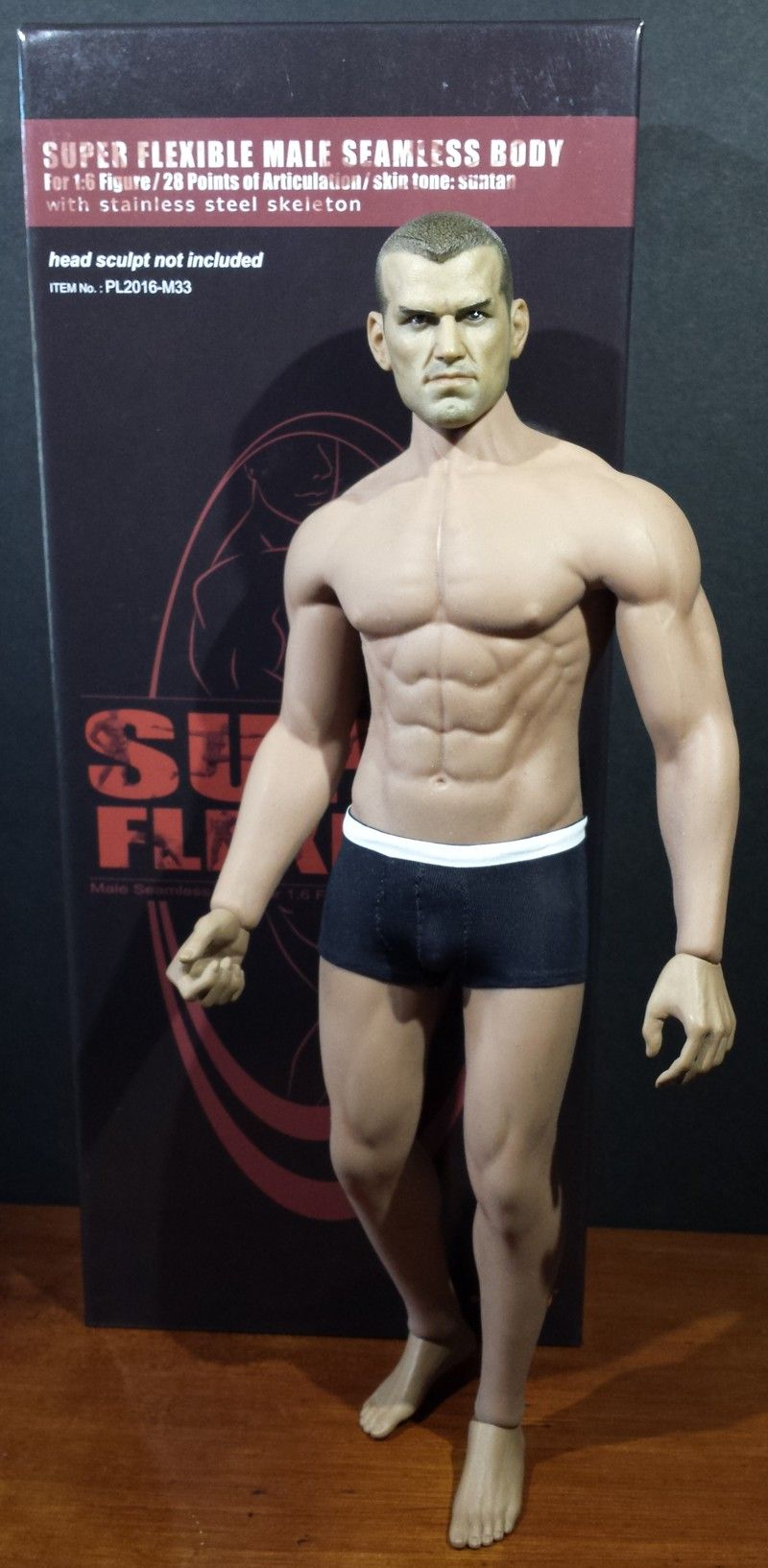 Phicen Super Flexible Male Seamless Body with stainless steel skeleton M31