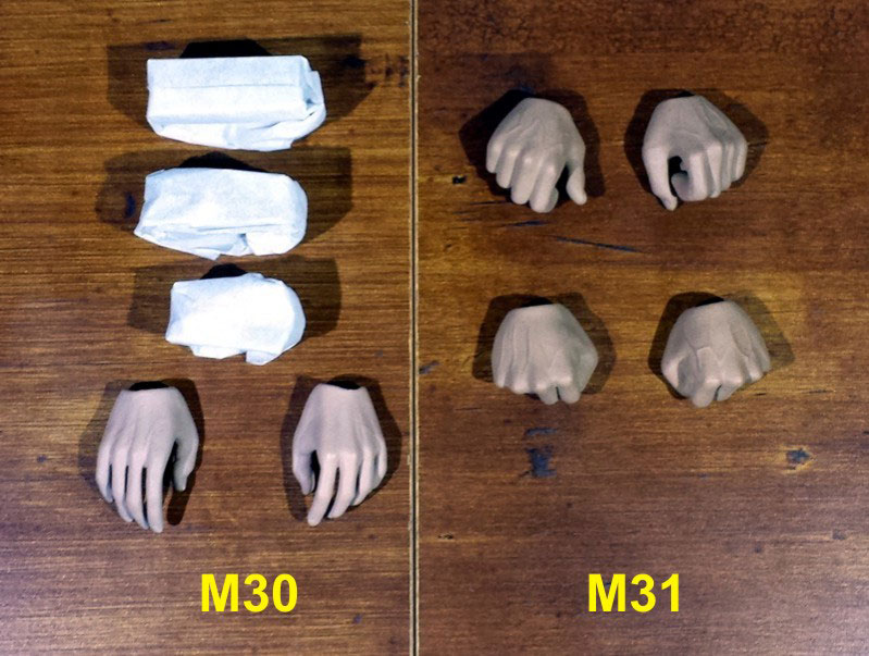Sixth Scale M30, M31 seamless action figure bodies by Phicen